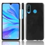 Shockproof Litchi Texture PC + PU Case for Huawei P Smart+ (2019) (Black)