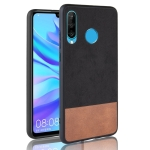 Shockproof Color Matching Denim PC + PU + TPU Case for Huawei P30 Lite / Nova 4e (Black)