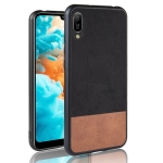 Shockproof Color Matching Denim PC + PU + TPU Case for Huawei Y6 Pro 2019 (Black)