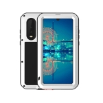 LOVE MEI Powerful Dustproof Shockproof Splashproof Metal + Silicone Combination Case for Huawei P30 (White)