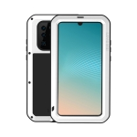 LOVE MEI Powerful Dustproof Shockproof Splashproof Metal + Silicone Combination Case for Huawei P30 Pro (White)