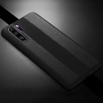 SULADA Anti-slip TPU + Handmade Leather Case for Huawei P30 Pro (Black)