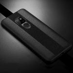 SULADA Anti-slip TPU + Handmade Leather Case for Huawei Mate 20 (Black)