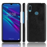 Shockproof Litchi Texture PC + PU Protective Case for Huawei Y6 (2019) (Black)