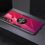 Scratchproof TPU + Acrylic Ring Bracket Protective Case for Huawei Nova 4 (Black)