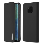 DUX DUCIS WISH Series TPU + PU + Leather Case for Huawei Mate 20 Pro, with Card Slots & Wallet (Black)