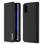 DUX DUCIS WISH Series TPU + PU + Leather Case for Huawei P30 Pro, with Card Slots & Wallet (Black)