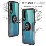 Scratchproof TPU + Acrylic Ring Bracket Protective Case for Huawei P30 (Black)