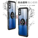Scratchproof TPU + Acrylic Ring Bracket Protective Case for Huawei Honor 10 Lite (Black)