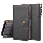 Cowhide Texture Horizontal Flip Leather Case for Huawei P30 Lite, with Holder & Card Slots & Wallet & Sling (Black)