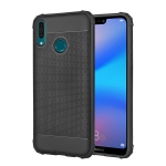Cube Texture Shockproof TPU Case for Huawei Y9 (2019)(Black)