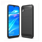Brushed Texture Carbon Fiber TPU Case for Huawei Honor 8S (Black)