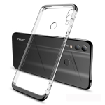 GKK Electroplating Transparent Case for Huawei Honor 8C (Black)