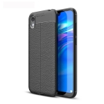 Litchi Texture TPU Shockproof Case for Huawei Honor 8S (Black)