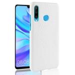 Shockproof Crocodile Texture PC + PU Case for Huawei nova 4e (White)