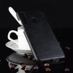 Shockproof Litchi Texture PC + PU Case for Huawei nova 4e (Black)
