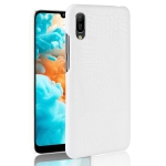 Shockproof Crocodile Texture PC + PU Case for Huawei Y6 Pro (2019) (White)