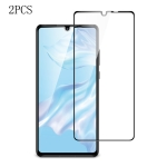 2 PCS ESR 9H Full Coverage Explosion-proof Tempered Glass Film for Huawei P30(Black)