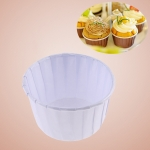 3000 PCS Round Lamination Cake Cup Muffin Cases Chocolate Cupcake Liner Baking Cup, Size: 6.8 x 5  x 3.9cm (White)