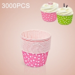 3000 PCS Dot Pattern Round Lamination Cake Cup Muffin Cases Chocolate Cupcake Liner Baking Cup, Size: 5.8 x 4.4  x 3.5cm (Pink)