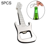 5 PCS Multi-function Guitar Bottle Opener Key Chain Car Key Pendant, Size: 8.5×3.5cm