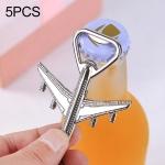 5 PCS Multi-function Aircraft Bottle Opener Key Chain Car Key Pendant, Size: 7x6cm