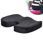 W-shaped Rebound Memory Foam Anti-Hemorrhoids Car Health Buttock Cushion, Size: 45x35x7cm(Black)
