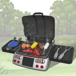 MoFun 6033 Simulation Electric Grill Children Barbecue String Toy Set (Black)
