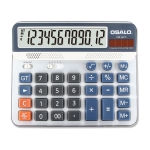 OSALO OS-6815 12 Digits Desktop Calculator Solar Energy Dual Power Calculator