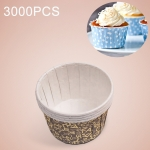 3000 PCS Round Lamination Cake Cup Muffin Cases Chocolate Cupcake Liner Baking Cup, Size: 5 x 3.8  x 3cm