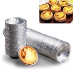 250PCS  Aluminum Foil Egg Tart Cup Cake Holder, Size: 7.5 x 4 x 2cm