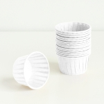 50 PCS Round Lamination Cake Cup Muffin Cases Chocolate Cupcake Liner Baking Cup, Size: 6.5 x 5 x 4cm (White)