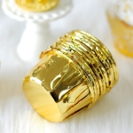 50 PCS Round Lamination Cake Cup Muffin Cases Chocolate Cupcake Liner Baking Cup, Size: 6.5 x 5 x 4cm (Gold)
