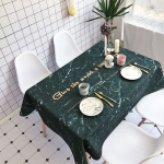 Black Marble Pattern Waterproof Anti-scalding Rectangle Cotton and Linen Table Cloth, Size: 140 x 100cm