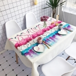 Ballet Pattern Waterproof Anti-scalding Rectangle Cotton and Linen Table Cloth, Size: 140 x 100cm
