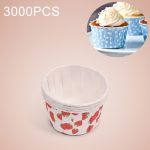 3000 PCS Round Lamination Cake Cup Muffin Cases Chocolate Cupcake Liner Baking Cup, Size: 5.8 x 4.4  x 3.5cm