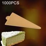 1000 PCS Small Triangle Cake Cardboard Pad Thick Rigid Golden Cake Mousse Cake Mat