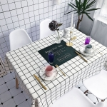Beautiful Pattern Waterproof Anti-scalding Rectangle Cotton and Linen Table Cloth, Size: 140 x 100cm