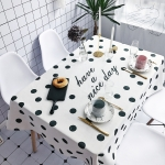 Small Wave Point Pattern Waterproof Anti-scalding Rectangle Cotton and Linen Table Cloth, Size: 140 x 100cm