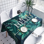 Palm Leaves Pattern Waterproof Anti-scalding Rectangle Cotton and Linen Table Cloth, Size: 140 x 100cm