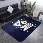 Yes I Can Pattern Rectangular Polyester Anti-skid Household Carpet Yoga Mat, Size: 200cm x 150cm