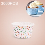 3000 PCS Round Lamination Cake Cup Muffin Cases Chocolate Cupcake Liner Baking Cup, Size: 6.8 x 5 x 3.9cm