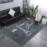 Tower Pattern Rectangular Polyester Anti-skid Household Carpet Yoga Mat, Size: 200cm x 150cm