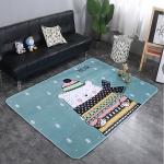 Happy Bear Pattern Rectangular Polyester Anti-skid Household Carpet Yoga Mat, Size: 200cm x 150cm