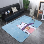 Leisure Cat Pattern Rectangular Polyester Anti-skid Household Carpet Yoga Mat, Size: 200cm x 150cm