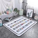 Letter Pattern Rectangular Polyester Anti-skid Household Carpet Yoga Mat, Size: 200cm x 150cm