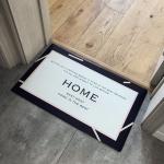 Line Pattern Rectangular Bathroom PVC Pad Anti-skid Household Foot Carpet, Size: 75 x 45cm