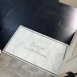 Marble Pattern Rectangular Bathroom PVC Pad Anti-skid Household Foot Carpet, Size: 75 x 45cm