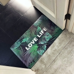 Green Life Pattern Rectangular Bathroom PVC Pad Anti-skid Household Foot Carpet, Size: 75 x 45cm