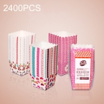 2400 PCS Square Lamination Cake Cup Muffin Cases Chocolate Cupcake Liner Baking Cup, Size: 6 x 5 x 5cm, Random Color Delivery